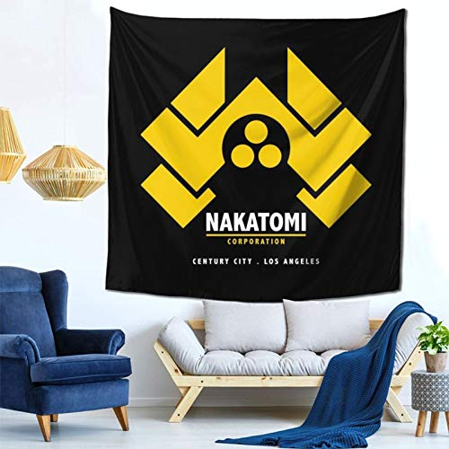 1033 Die Hard Nakatomi Corp Logo Wall Hanging Tapestry for Living Room and Bedroom Spreads Good Vibes 59×59 Inches