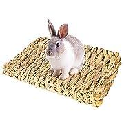 Petite taille: Le tapis en herbe mesure environ 28 x 20 cm (L x l), il peut être facilement placé dans une cage. Jouet pour animal : Vous pouvez l'utiliser comme un lit ou l'utiliser comme un jouet pour les pattes. Cachez de petites friandises entre...