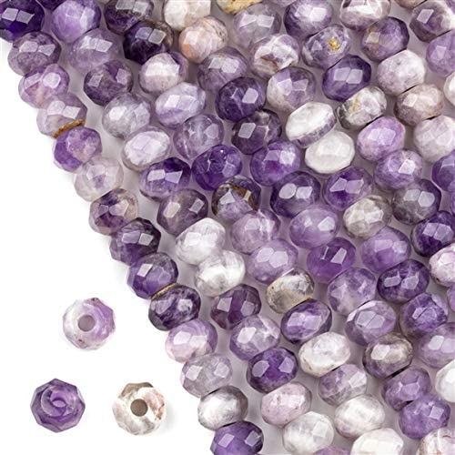 6mm Amethyst Faceted Box 8 Inches Strand
