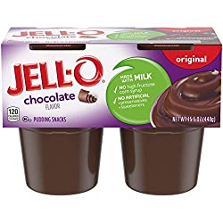 JELL-O Chocolate Original Dessert Pudding (15.5 oz Package, 4 Cups)