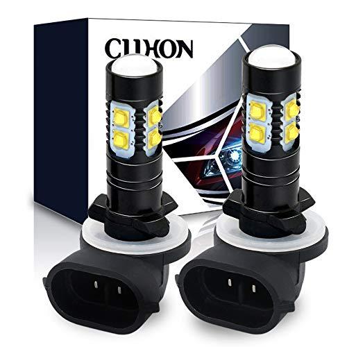 CIIHON 881 LED Fog Light Bulb 886 896 50W 3535SMD White 6000K 1600 Lumens DRL Driving Fog Lights Bulbs 894 862 888 Replacement Pack of 2