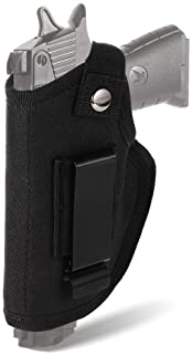 taabobo Concealed Carry Holster Universal Holster Carry Inside or Outside The Waistband for Right and Left Hand Draw Fits Subcompact to Medium Handguns