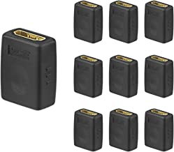 VCE 10 Pack HDMI Female to Female Coupler, Gold Plated High Speed HDMI Adapter Double Female HDMI Connector Support 3D 4K 1080P HDMI Cable Extender