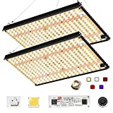 EnFun Updated EF-2000 LED Grow Light 4x4 FT Footprint Compatible with Samsung LM301B Diodes & MeanWell Driver Dimmable Grow Lights Full Spectrum for Indoor Hydroponic Plants Veg Bloom 576pcs LEDs