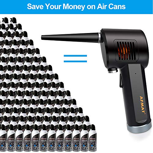 Cordless Air Duster for Computer, Better Choice for Air Can Duster, Compressed Air Can, Air Canister, Spray Air Duster for Computer, w/ 6000mAh Rechargeable Battery, 10W Fast Charging, 33000 RPM Photo #2