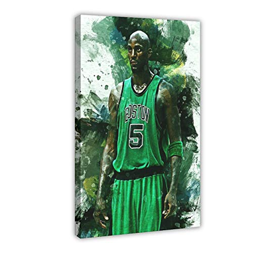 Kevin Garnett Poster Celtics Basketball Player 3 Canvas Art Bedroom Decor Picture Prints Offices Dorm Room Decor Gift 12×18inch(30×45cm) Frame-style1