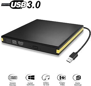 BEVA Lecteur de DVD Externe USB 3.0, Lecteur de CD Portable USB Lecteur de DVD Graveur de..