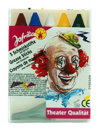 Jofrika Schminkstifte mit Spitzer, 5er