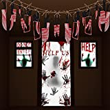 PChero Halloween Blutiger Fensteraufkleber, Horror