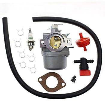 Carbhub 498027 Carburetor for Briggs & Stratton 799728 498027 498231 499161 494502 494392 Craftsman Riding Lawn Mower Murray Coleman PowerMate Pro-Gen 5000 Watts Generator with Fuel Line Filter Spark
