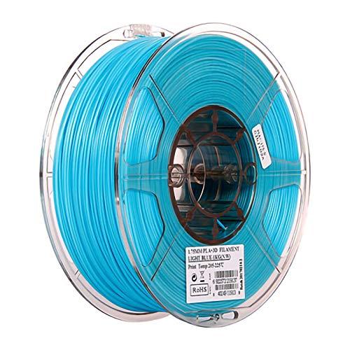 ZXC 3D PLA Filamento Pluma Recargas 1,75 mm PrecisióN ± 0,02 100% Ninguna Burbuja De 1 kg 2,2 Libras Sin Olores Y FáCil De Pelar Filamento for La MayoríA De Impr(Color:Cielo Azul)