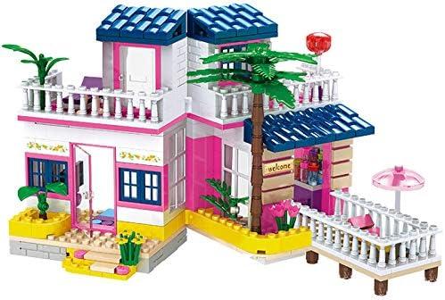 BRICK STORY Dream Girls House Building Sets Seaside Villa Building Blocks Toys Friends Beach product image