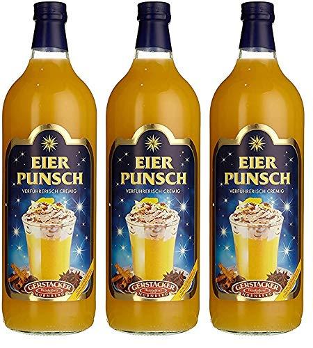 3 Flaschen Gerstacker Eierpunsch (3x 1l) 8,6% vol.