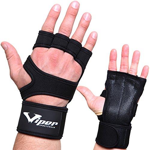 viper guanti Guanti Crossfit da Uomini - Paracalli con Polsiere Integrato per Palestra Allenamento e Sollevamento Pesi - Perfetti per Fitness
