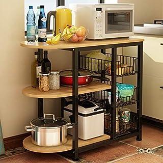 DUDDP rangement cuisine Étagère de rangement Casiers, cuisine Baker & rsquo; S rack Utility Storage Shelf micro-ondes stan...