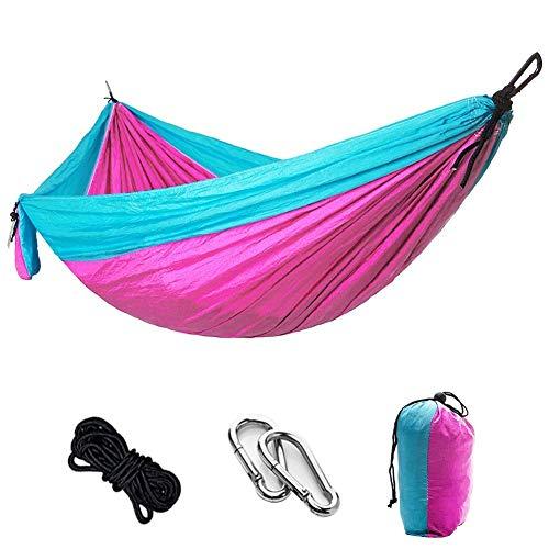 WMYATING Hamaca Hamaca Hamaca portátil de Camping Tela de paracaídas Hamaca jardín al Aire Libre Ocio Swing Turismo Colgando Cama Comodidad Durabilidad