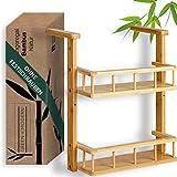 Green'n'Modern – Estantería colgante para la cocina – Frigorífico de madera de bambú – Estantería para especias para estudiantes