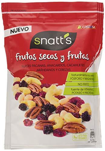 Grefusa Snatt's - Cocktail de Frutos Secos y Frutas Deshidratadas y Azucaradas, 120 g
