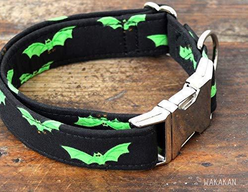 Collar Para Perro: Radioactive Bats, Hecho a Mano en España por Wakakán: Amazon.es: Handmade