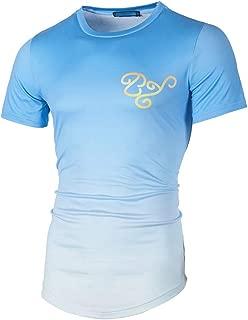 Willsa Mens Shirts, Fashion Casual Slim Printed Patchwork Short Sleeve T Shirt Top Blouse
