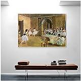wopiaol sans Cadre Haute Qualité Ballet Toile Peinture y Arts Mur Art Peinture Moderne Décor À La Maison Image pour Salon Décoration Murale