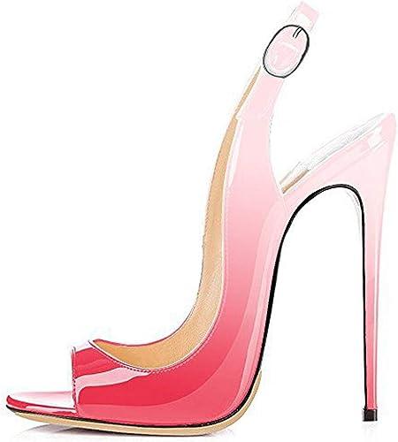 TYX-SS Fisch Mund Farbverlauf High Heel Damen Mode Mode Mode Sandalen mehr als 10 Farben  Online-Shop