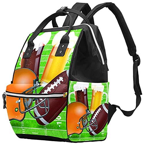 WJJSXKA Mochilas Bolsa de pañales Laptop Notebook Mochila de viaje Senderismo Daypack para Mujeres Hombres - Casco de fútbol americano Gafas de campo de abeja