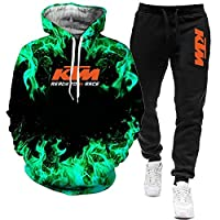 SPONYYP 2ピース K.T_M-s ケースIh. パーカー + Tr Tr スーツ ジャケット 3D 印字 パーカー スポーツウェア トレーナー 路肩に寄せて下さい 男性用/D/XXXXL