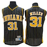 ZJMS Clásico Indiana Pacers # 31 Reggie Miller Camiseta para Hombre Clásico Cómodo Transpirable Secado Rápido Chaleco Sin Mangas Poliéster Camiseta De Baloncesto Swingman D-XL
