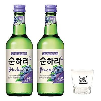 Lotte Chum Churum Soju - Blueberry Flavour 360ml 12% Alc./Vol (Pack of 2)