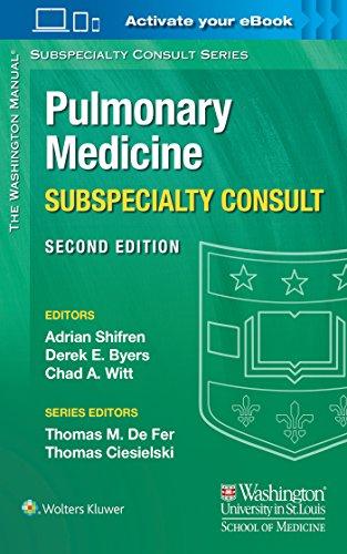 The Washington Manual Pulmonary Medicine Subspecialty Consult (The Washington Manual Subspecialty Consult Series)