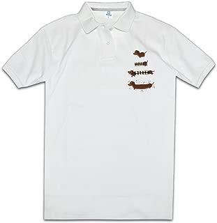 Perfect Creation Of A Dachshund Man Golf Polo Shirts