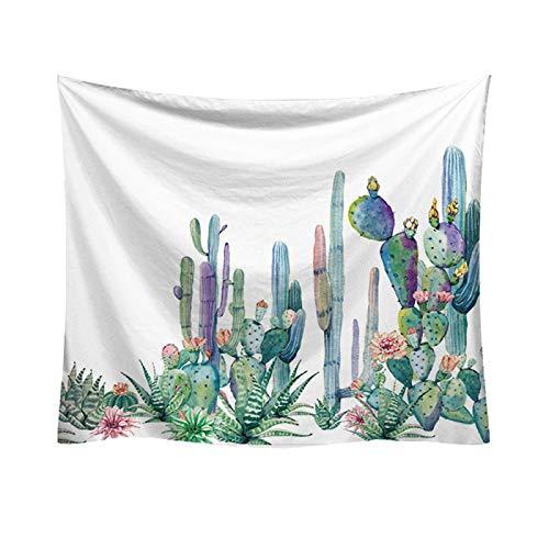Tapiz De Cactus, Tela De Decoración De Escena De Tela para Colgar En La Pared con Impresión De Dibujos Animados, Varios Tamaños De Tapices De Pared para El Hogar95*73cm