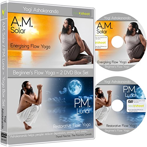 Beginner's Flow AM/PM Yoga Flow Box Set with Yogi Ashokananda (2 DVD's)