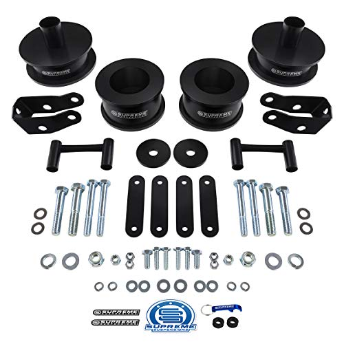 """Supreme Suspensions - Full Lift Kit for 2007-2018 Jeep Wrangler JK 2"""" Front + 2"""" Rear High-Strength Steel Coil Spacers + Shock Extenders 2WD/4WD"""