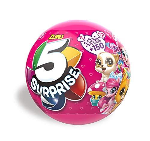 Zuru 7702 - Überraschungskapsel, 5 Surprise für Mädchen, 1 von 150 verschiedenen Spielzeugen pro Kapsel, 5 Überraschungen zum Sammeln und Tauschen