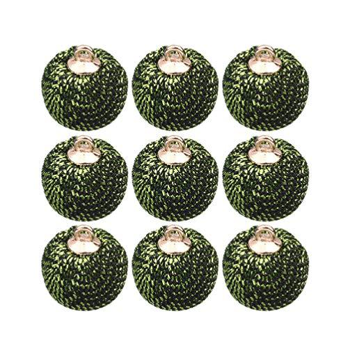 SUPVOX 24 Pz Pendenti con Ciondoli a Forma di Palla Orecchini con Ciondoli Orecchini Accessori per Bracciali per Fai da Te Portachiavi Gioielli Fai da Te Fare (Verde)