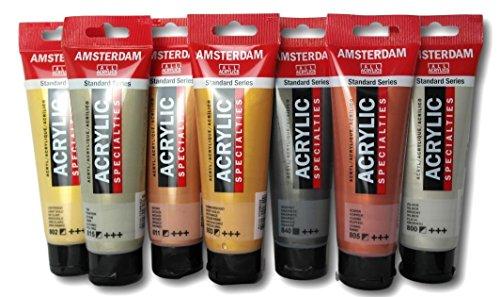 Ámsterdam - Pintura acrílica reflectante (7 unidades), color metálico