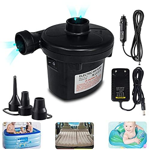 Elektrische Luftpumpe für Luftmatratze, Luftpumpe Elektrisch, Pumpe Luftmatratze 2 in 1 Inflate und Deflate für Luftmatratzen, Schwimmring, Schlauchboote