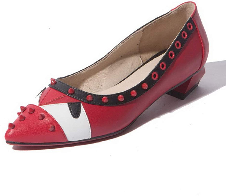 AN Womens Unique Platform Assorted colors Pointed-Toe Pigskin Leather Pumps shoes DGU00809