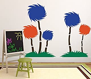 Enid545Anne Wall Decor - Tufted Trees Classroom Decor- The Lorax Playroom Child Bedroom Nursery Party Decoration - Vinyl Wall Decal