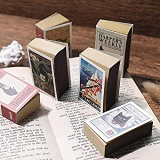 OFFICE -Notebooks - 4pcs Vintage Notebook Mini Match Box Cover Portable Notepad Retro Note Book Portable Traveler Journey ...