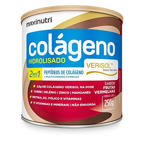 Colágeno Hidrolizado 2x1 Lata Verisol Frutas Vermelhas 250g Maxinutri