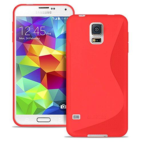 Custodia per Cellulare in Rosso per Samsung Galaxy S5 Mini | Custodia
