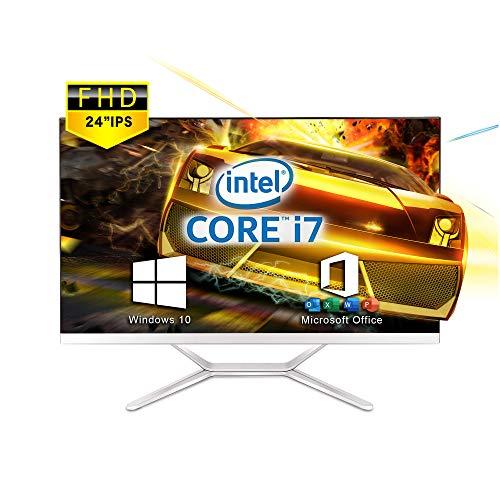 VETESA 2021年モデル 24型フルHD液晶一体型 デスクトップパソコン CPU: Core i7 3615MQ 2.4GHz/【Win 10搭載】【MS Office 2016搭載】メモリー:8GB/SSD:256GB/USB 3.0/無線搭載/VTS‐24i7 (SSD:256GB)