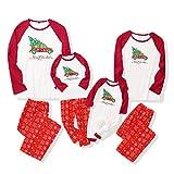 ROSEBEAR Ropa de Navidad a Juego Conjunto de Pijamas Familiares Conjunto de Trajes Familiares Pijamas de Feliz Navidad. (Bebé, 6-12 M)