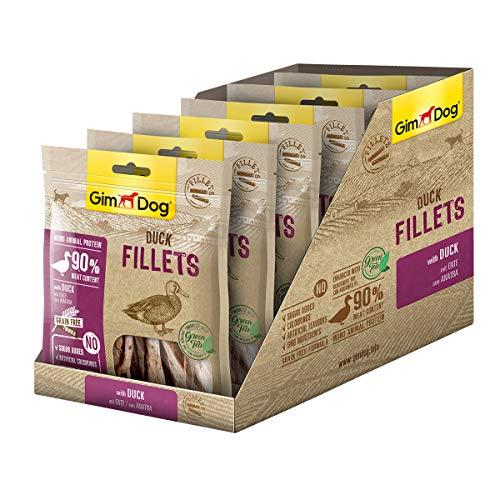 GimDog Duck Fillets Filetes Curados y Liofilizados de Pato - 6 x 60 gr ✅