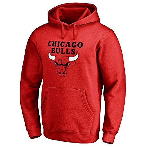 YSA Herren und Damen Basketball Hoodie NBA Chicago Bulls Jersey Kapuzenpullover Loose Basketball Sweatshirt T-Shirt
