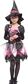 Halloween Cosplay Kids Dressing Up Costumes, Children's Magic Witch Tutu Christmas Party Costume (Color : Black, Size : M)