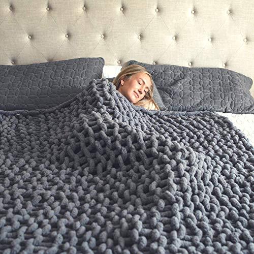 Super Soft Chunky Knit Blanket